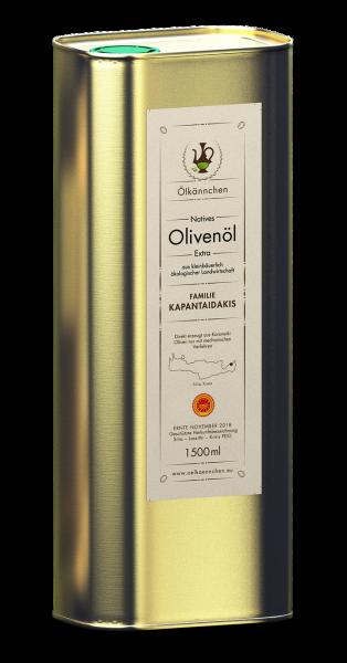 Ölkännchen Kapantaidakis PDO Sitia 1500 ml, Nov./Dez. 2018