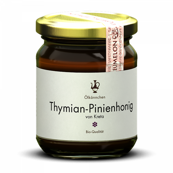 Ölkännchen Thymian-Pinien Honig 250 gr. Kreta, Lassithi -erzeugerrein