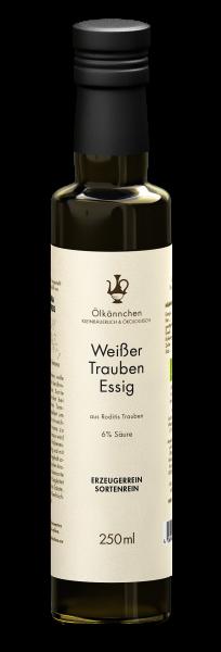 Ölkännchen Weißer Essig aus Roditis Trauben 6% Säure (Griechenland), 250ml
