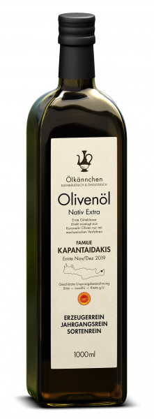 Ölkännchen Fam. Kapantaidakis gU Sitia 1-L, Ernte Dez. 2019