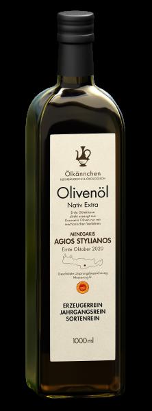 Ölkännchen Menegakis Ag. Stylianos gU Messara 1-L, Ernte Okt. 2020