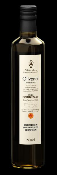 Ölkännchen Familie Gourniezakis gU Viannos 0,5-L-Glasflasche, Ernte 2020