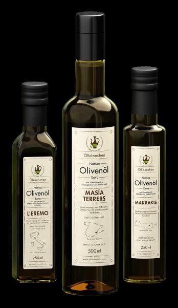 3-Länder Aktion Olivenölspezialitäten von Kreta, aus der Toskana und Spanien