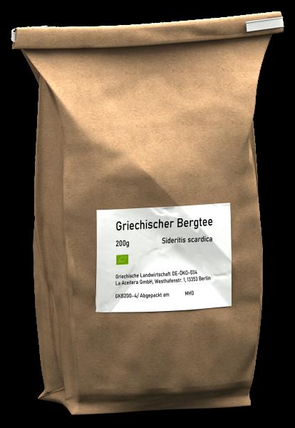Griechischer Bergtee Sideritis Scardica GROßPACKUNG, ganze Dolden, Aitoloakarnania, 200 g