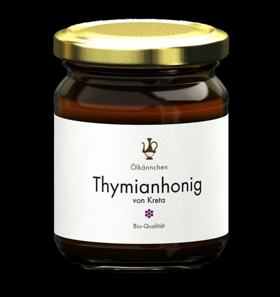 Ölkännchen Thymian Honig 250 gr. Kreta, Rethymno -erzeugerrein