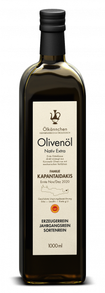 Ölkännchen Fam. Kapantaidakis gU Sitia 1-L, Ernte Dez. 2020