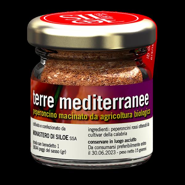 Terre mediterranee mittelscharfes, rotes Chili Pulver (BIO) aus der Toskana 15g
